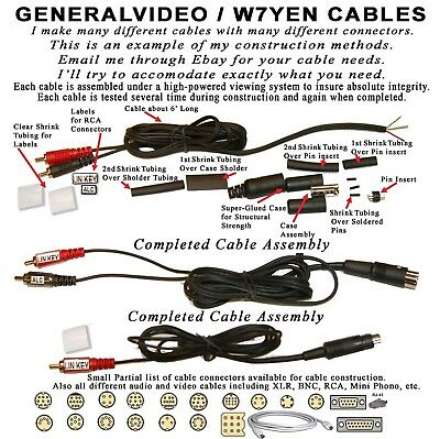 10-Pin Mini-Din Cable With Keying And Alc For Yaesu  Ft-950  Ft-450  Ft-Dx1200