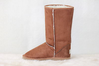 Ugg Boots Tall, Synthetic Wool, Size 13 Mens, Colour Chestnut