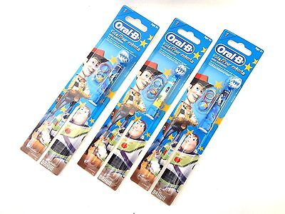3 Oral B 1 Replacement Head (Disney Toy Story) Extra Soft