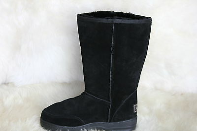 SHEEPSKIN UGG BOOTS Outdoor Sole Tall Men Size 6/Lady Size 8