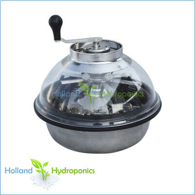 Hydroponics Plant Bud Cutter Stainless Bowl Manual Leaf Trimmer with clear top