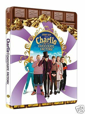 Charlie and the Chocolate Factory (Blu-ray Region-Free)~~~Steelbook~~~Depp~~~NEW