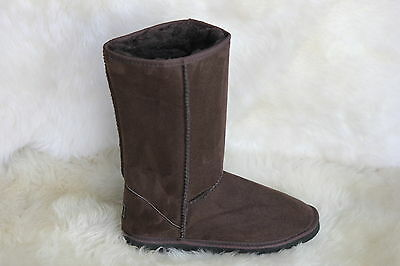 Ugg Boots Tall, Synthetic Wool, Colour Chocolate, Size 9 Lady's/Size 7 Mens