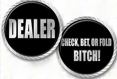 Aggressive Heavy Dealer Button - Check Bet or Fold Bitch NEW
