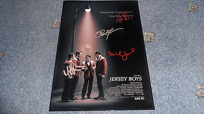"Jersey Boys Castx4 Pp Signed 12""x8"" A4 Photo Poster Vincent Piazza Four Seasons"