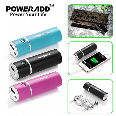Poweradd 5000mAh Power Bank Battery Charger For Samsung iPhone Mobile Phones UK