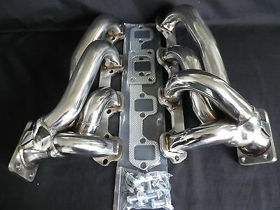 Ford Windsor Sb 5.0 Stainless Steel Polished Twin Turbo Manifold
