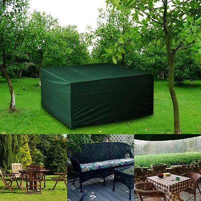 Durable Waterproof Green 6FT Small Rectangle Garden Table Chair Protection Cover