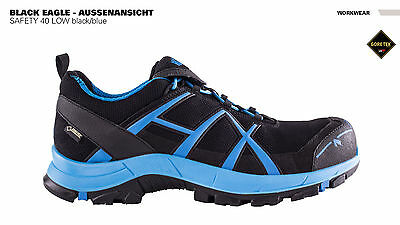 HAIX Black Eagle Safety 40 S3 Low black/blue , Arbeitsschuh, GORE-TEX®,