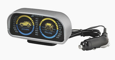 Land Meter Inclinometer Lighting Level Indicator Off Road Silver 12 Volt 4x4