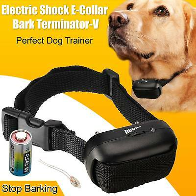 Anti Bark No Barking Electric Shock Vibration Dog Pet Training Collar Epacket UK