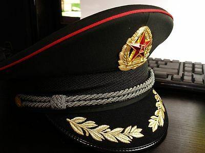 Original Chinese ARMY PLA Type 07 Officer Visor Hat with badge  BrandNew
