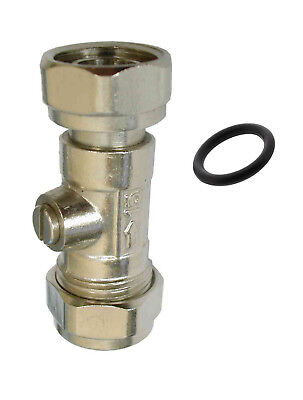 "15mm x 1/2"" Service Valve With Rubber Seal Straight for Toilet Taps Showers"