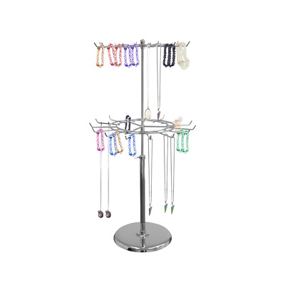 Spinning Wire Counter Top Display 26 Hook Stand 2 Tier -Spct2M