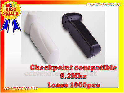 Security Black Pencil Tag Hard Tag 1000 Pcs Checkpoint® Compatible 8.2Mhz Black.