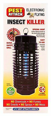 Flying Insect Killer Electric Pest Attack UV Lamp Bug Zapper Fly Mosquito Killer