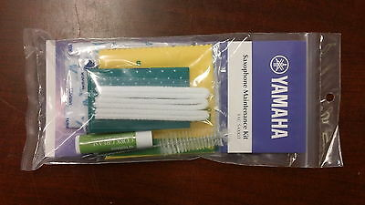 Yamaha Saxophone Maintenance Kit YAC SAXKIT Cork Grease Pad Paper Swab Brush