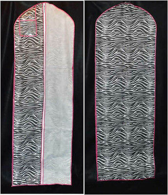 New Zippered Bridal Gown Wedding Dress Storage Zippered Bag Zebra Striped