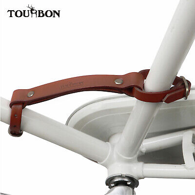 Tourbon Bike Bicycle Frame Carrying Strap Handle Lifter Portage Handgrip Leather