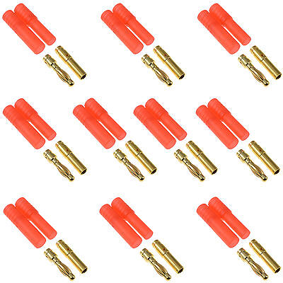 5 x PAIRS of HXT 4mm RC Lipo Battery Connector for Car Plane Helicopter