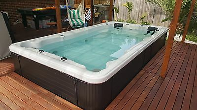 2015 New Luxury Swim Spa Outdoor Family Spa Portable Swimming Pool LED lights
