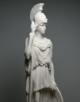 Athena Minerva Greek Roman Goddess Handmade Statue Sculpture Figure 9.8in / 25cm