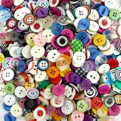 10/50/200/500pcs mixed round resin buttons lots 11MM craft sewing Scrapbook DIY