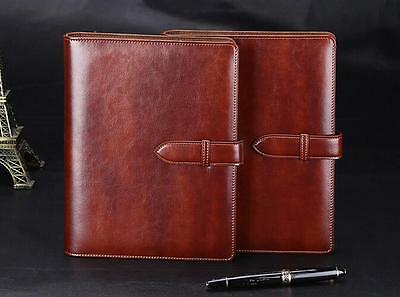 A5 Brown Journal Written Business Diary Book Embossed Leather Notebook E