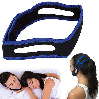 STOP SNORING CHIN STRAP - Anti Snore Stopper Sleep Apnea Belt - Apnoea Night