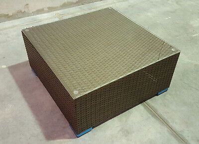 RATTAN FURNITURE OUTDOOR LOUNGE WICKER aluminium frame Coffee table