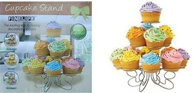 Cup Cake Stand Decorative Wire Cup Cake Display Stand Holds 13 Cup Cakes