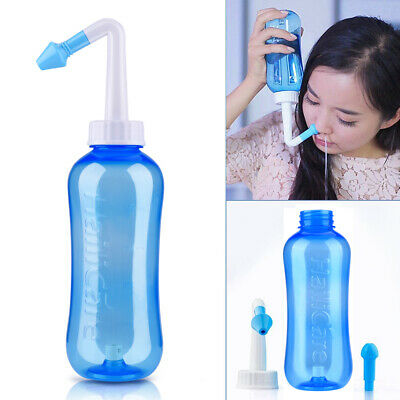 500ml Nasal Wash Neti Pot Nose Clean Bottle Irrigator Saline Allergic Irrigation