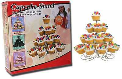 23 X Cup Cake Stand Decorative Wire Cup Cake Display Stand Holds 23 Cup Cakes