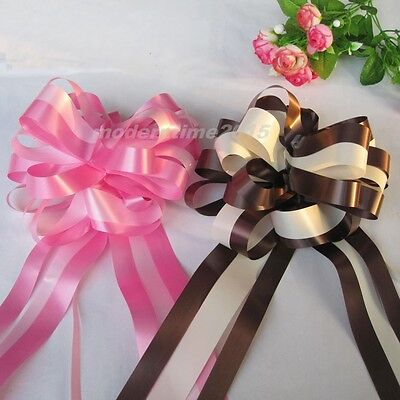 1pc Ribbon Pull Flower Bows Wedding Car Party Christmas Decoration Gift Ribbons