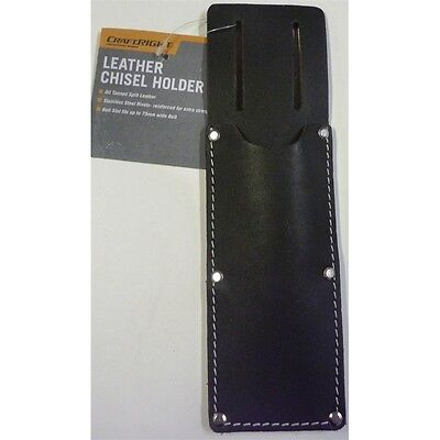Professional Trade Quality Genuine Leather Chisel Holder For Tool Belt