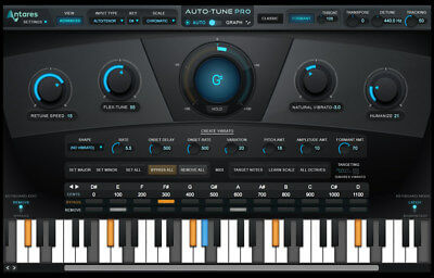NEW Antares Auto Tune Pro Pitch Correction Vocal Audio Editing PC/MAC