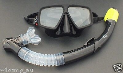 Frameless Mask & Dry Snorkel - Silicone Set WIL-DS-10Y Snorkelling Scuba Diving