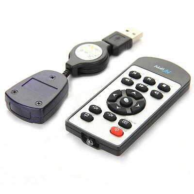 USB Remote Control Media Centre Controllers + USB Receiver for Computer PC Black