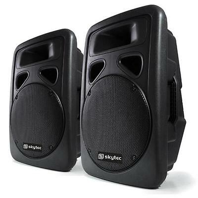 """New 1200W Active 12"""" Pa Speaker Sound System Dj Disco Stage Monitors Pair"""