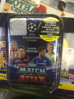 MATCH ATTAX Champions League 2016 Collector Tin SINGLE PACK 50 CARDS +1 LIMITED