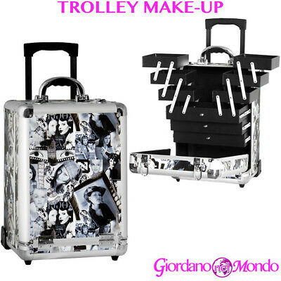 Trolley Estetista Make Up Nail Art Porta Atrezzi Rigido Professionale Superstar