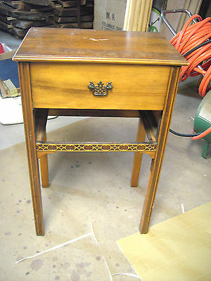 Antique/Vintage Rockford Furniture Sewing Chest Cabinet Disapearing Drawer RARE