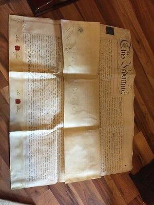 Huge Old Indenture Dated 1824 - Relates To Liverpool & Warrington