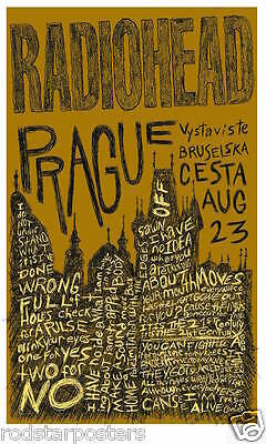 0474 Vintage Music Poster Art  Radiohead In Prague   *FREE POSTERS