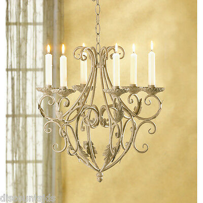 35601 Royalty's Distressed Taper Candle Holder Chandelier Wrought Iron