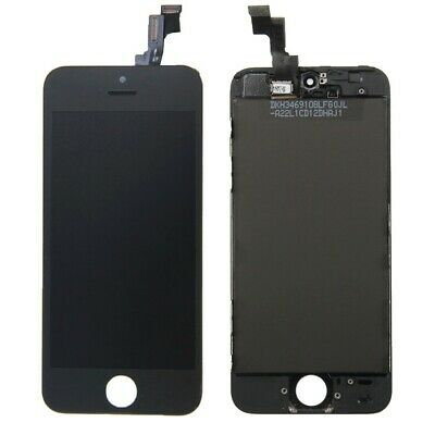 DISPLAY LCD VETRO TOUCH per Apple iPhone 5S NERO SCHERMO ORIGINALE TIANMA