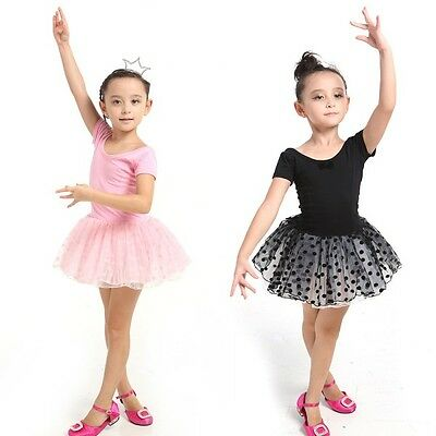Toddler Girls Dance Wear Ballet Tutu Outfit Skate Dress Party Child Kids Clothes