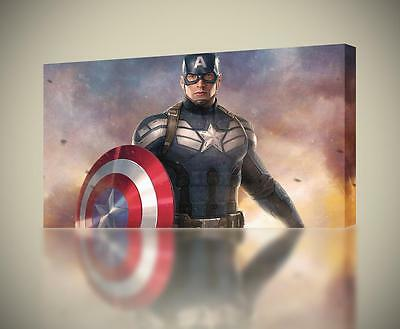 CAPTAIN AMERICA The Avengers CANVAS PRINT Wall Art Home Giclee *4 Sizes* CA177