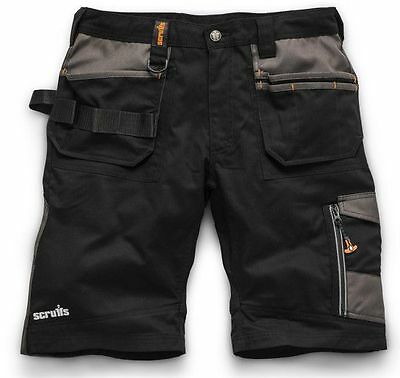 Scruffs Trade Work Shorts Black with Multiple Pockets Hardwearing Combat Cargo