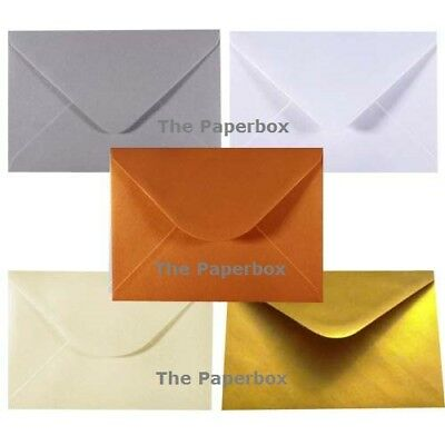 C5 Pearlescent Envelopes - variety of colours & pack sizes - to fit A5 cards